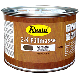 2K Holzspachtelmasse von Restokitt in der 1 Kg. Dose