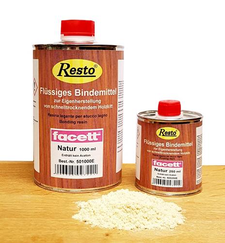 Flüssiges Bindemittel von Restokitt zum Holzspachtel selber machen